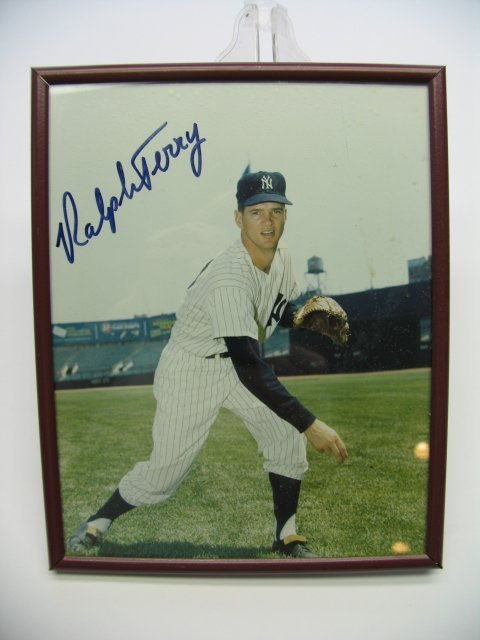 4010: Ralph Terry Yankees Autographed Framed Picture