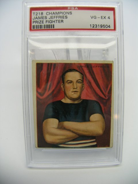 4012: Jim Jeffries 1910 T218 Boxer Tobacco Card