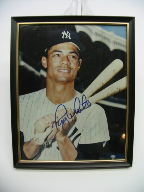 4015: Roy White Yankees Autographed Framed Picture