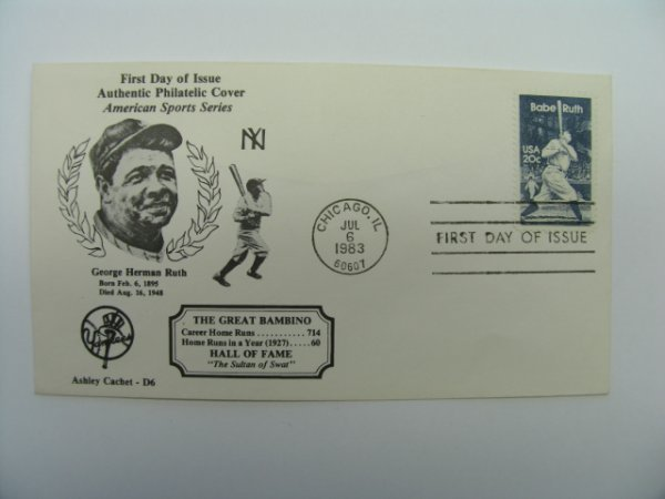 4019: Babe Ruth NY Yankees First Day of Issue