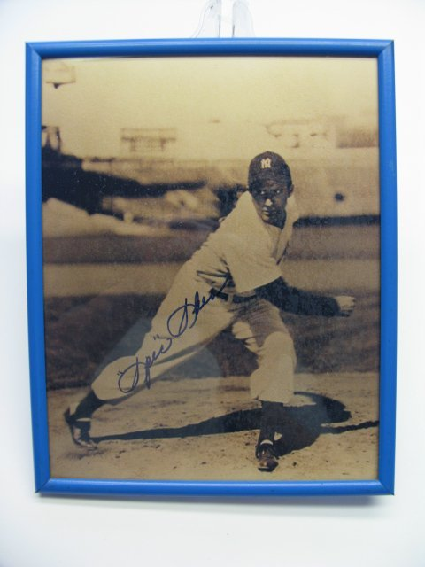 4020: Spec Shea Yankees Autographed Framed Picture