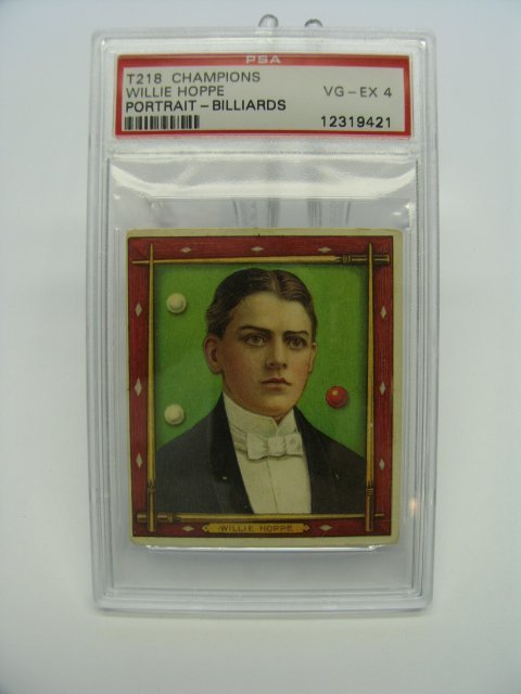 4022: Willie Hoppe 1910 T218 Tobacco Card
