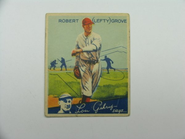 4476: Lefty Grove, Red Sox 1934 World Wide Gum Card