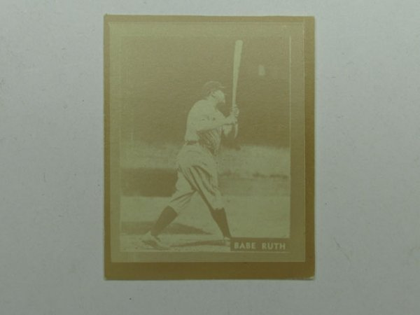 4571: Babe Ruth 1931 Ray-O-Print Baseball Card