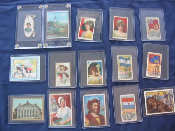 1010: (15) Different Non-Sport Tobacco Cards Turn of th