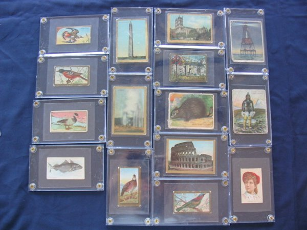 1015: (18) Turn of the Century Tobacco Cards & Silks of