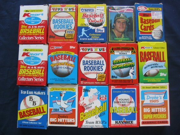 1024: (15) Baseball Collector's Sets c. 1980's-90's Sta