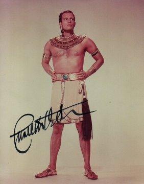 Charlton Heston Signed Photo.