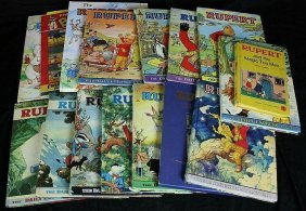 Rupert Bear Collection Of Annuals.