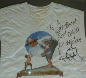 Michael Jackson Signed Neverland T Shirt.