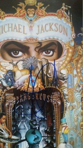 Michael Jackson Signed Dangerous Lp