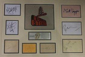 Complete Rolling Stones Autographs.