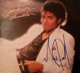 Michael Jackson Signed Thriller Lp.