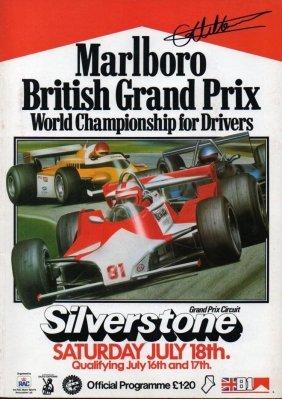 Giles Villeneuve Signed British Grand Prix Programme