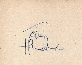 Jimi Hendrix Signed Paper.