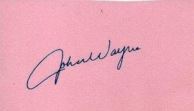 John Wayne Signed Paper.