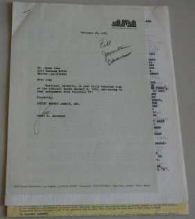 James Caan 1965 Signed Contracts.