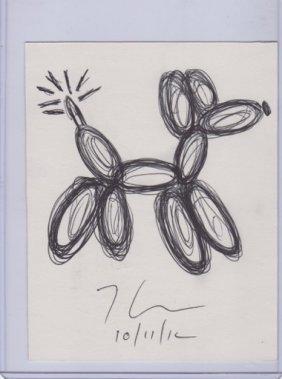 Jeff Koons Poodle Drawing.