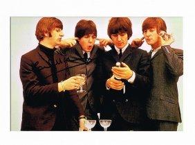 Paul Mccartney Signed Photo Of The Beatles.