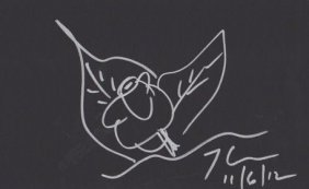 Jeff Koons Drawing Of A Flower.