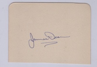 James Dean autograph cutting.