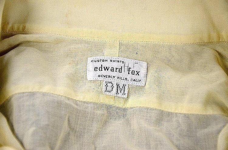 DEAN MARTIN OWNED AND WORN EDWARD FOX 1970'S SHIRT. - 2