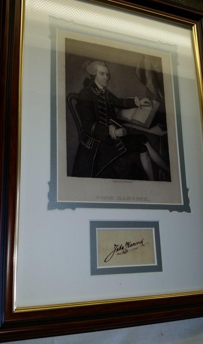 PRESIDENT JOHN HANCOCK SIGNED.