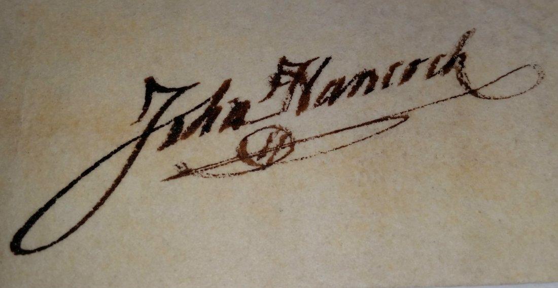 PRESIDENT JOHN HANCOCK SIGNED. - 2