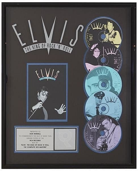 "ELVIS PRESLEY RIAA PLATINUM AWARD ""ELVIS THE KING."
