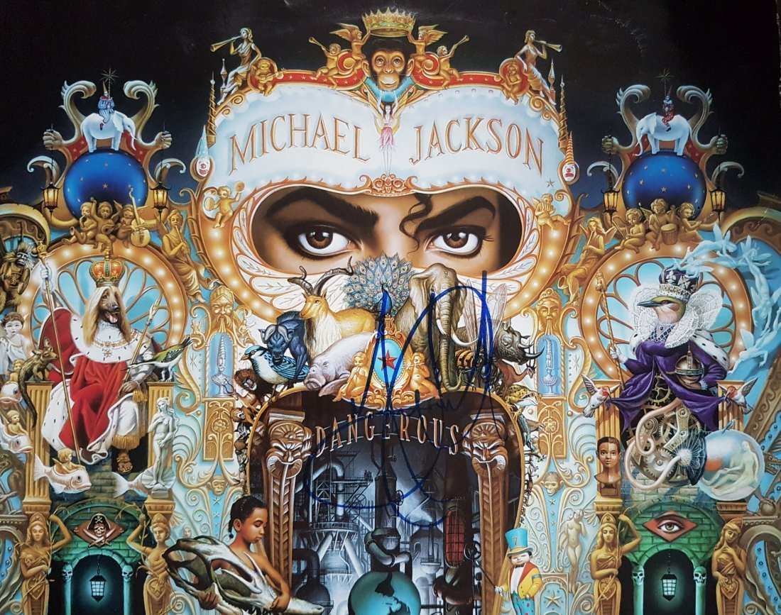 MICHAEL JACKSON SIGNED DANGEROUS LP.
