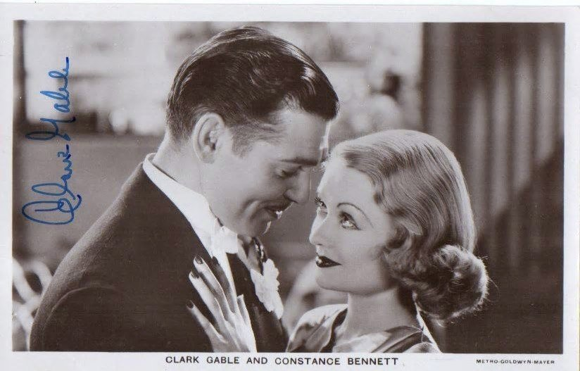 CLARK GABLE SIGNED.