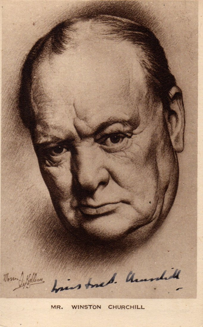WINSTON CHURCHILL SIGNED.