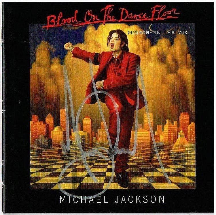 MICHAEL JACKSON SIGNED CD INLAY.
