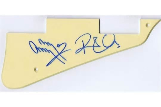 Jimmy Page & Robert Plant signed picguard.