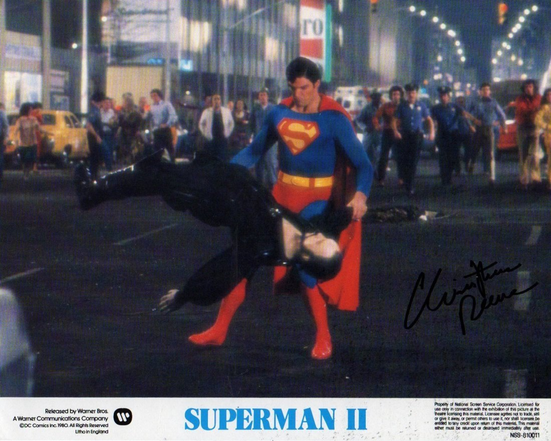 CHRISTOPHER REEVES SIGNED.