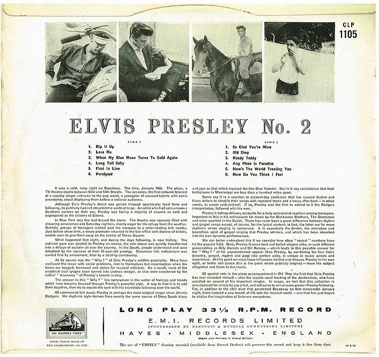ELVIS PRESLEY ORIGINAL 1957 ROCK N ROLL PART 2 UK VINYL - 2