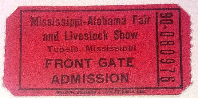 ELVIS PRESLEY TUPELO 1956 FRONT GATE ADMISSION CONCERT. - 2