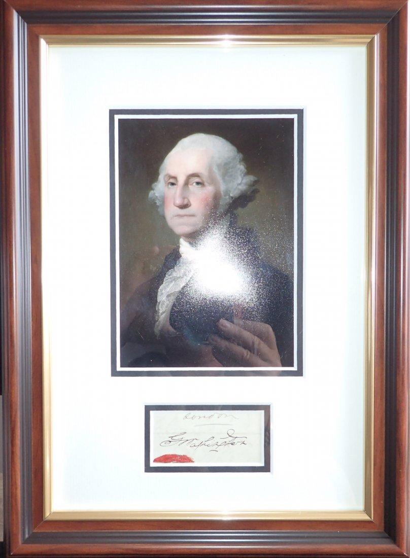 George Washington Document signature with original seal