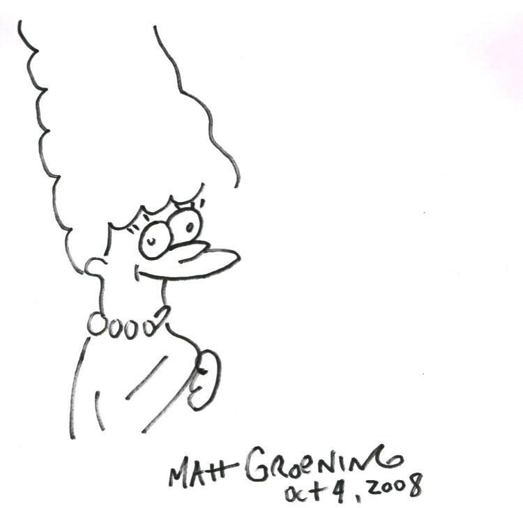 MATT GROENING: MARGE SIMPSON.