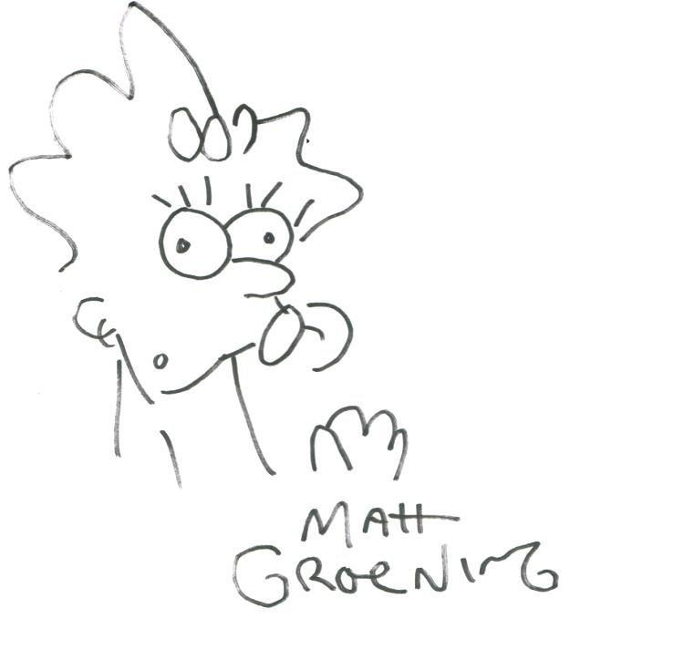 MATT GROENING: MAGGIE SIMPSON.