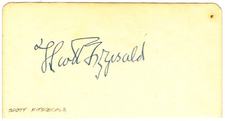 SCOTT FITZGERALD SIGNED.