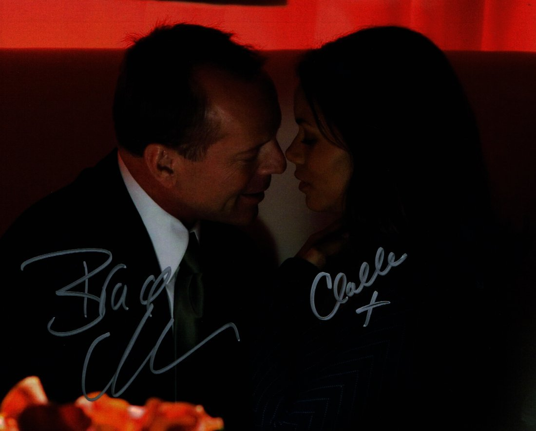 BRUCE WILLIS AND HALLE BERRY SIGNED.