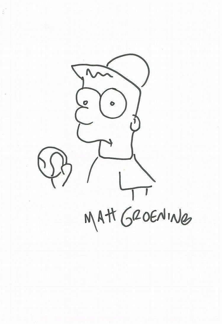 MATT GROENING: BART SIMPSON BASEBALL.