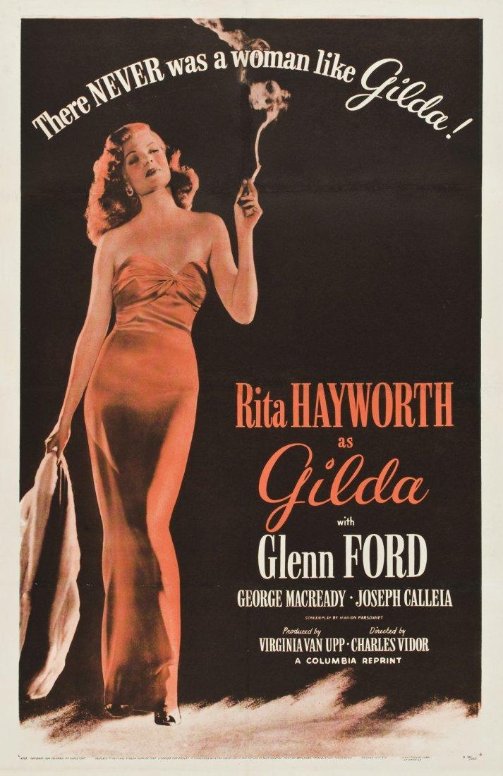 GILDA : COLUMBIA R 1950 VINTAGE ONE SHEET.