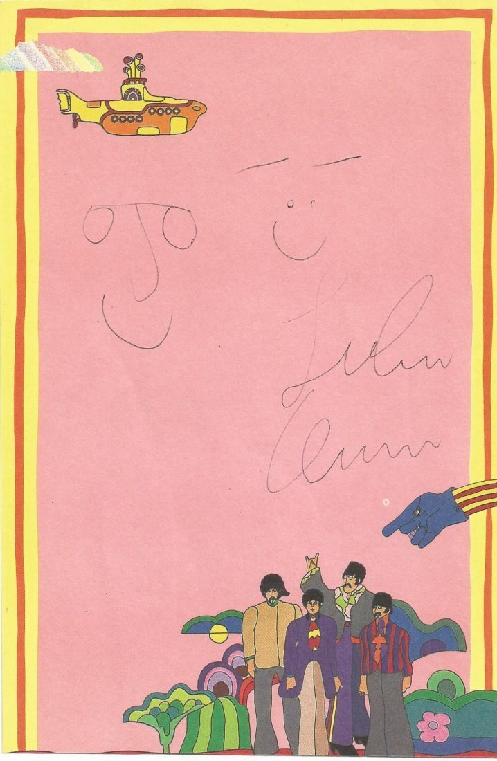 JOHN LENNON AND YOKO ONO SIGNED.