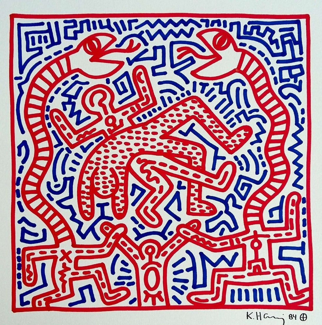 KEITH HARING: SERPENT AND MAN.