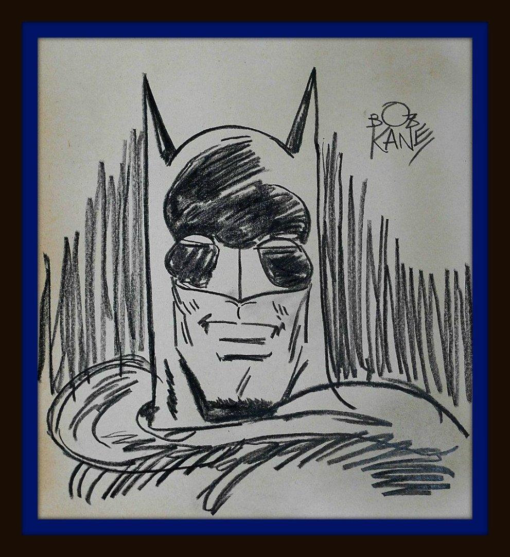 BOB KANE'S DRAWING OF BATMAN.