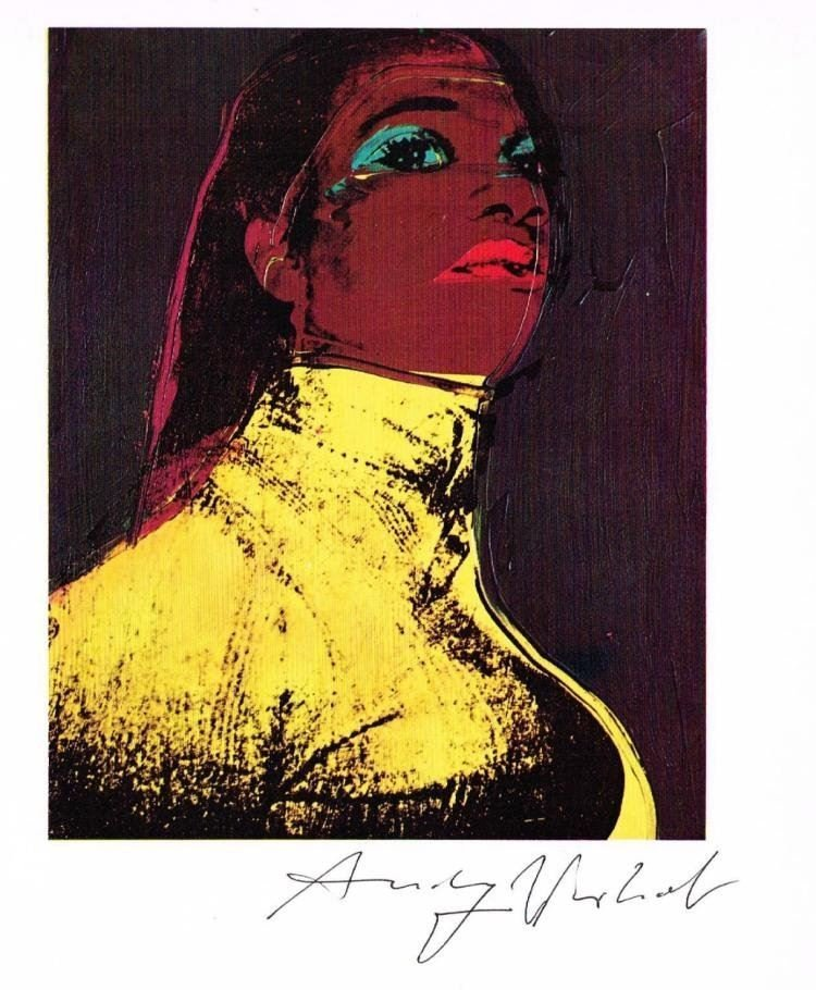 ANDY WARHOL SIGNED 'LADIES AND GENTLEMEN' OFFSET PRINT.