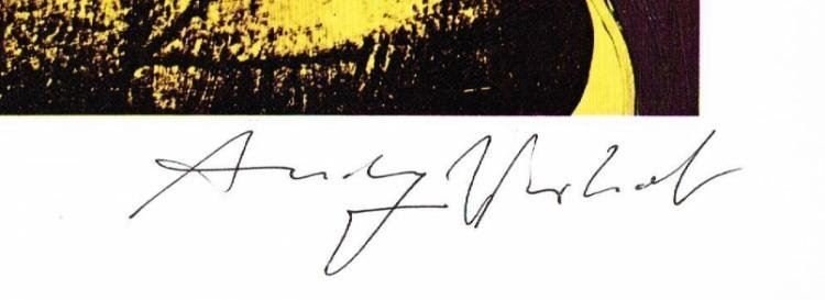 ANDY WARHOL SIGNED 'LADIES AND GENTLEMEN' OFFSET PRINT. - 2