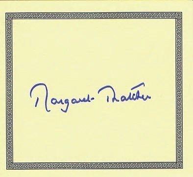 MARGARET THATCHER SIGNED.